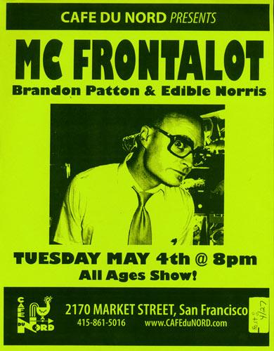 MC Frontalot Flyer