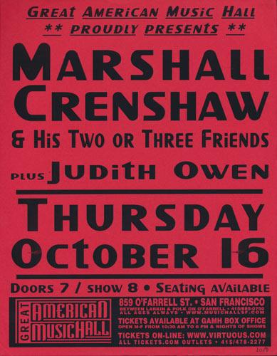 Marshall Crenshaw Flyer