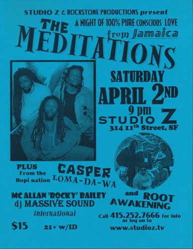 The Meditations Flyer