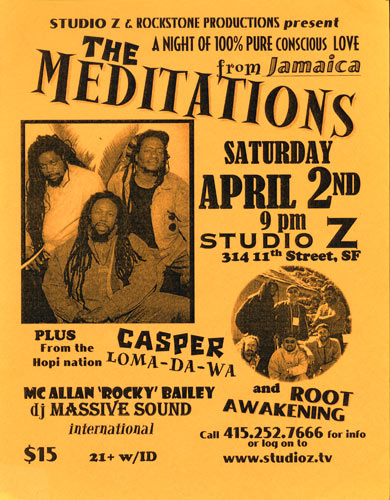The Meditations Flyer