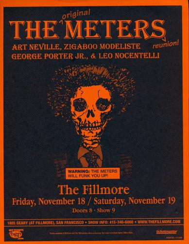 The Original Meters Reunion Flyer