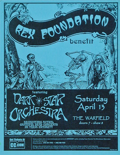 Rex Foundation Benefit featuring Dark Star Orchestra Flyer