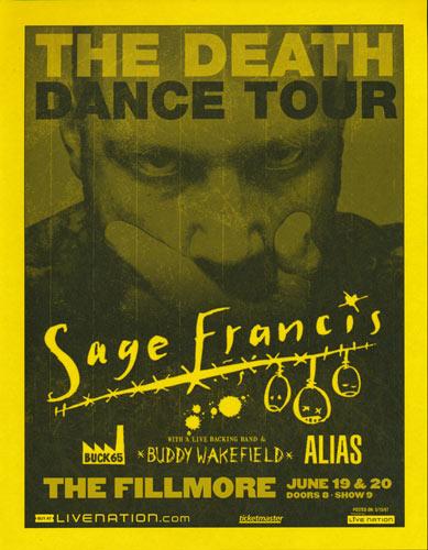 Sage Francis - The Death Dance Tour Flyer