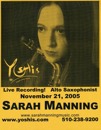 Sarah Manning Flyer