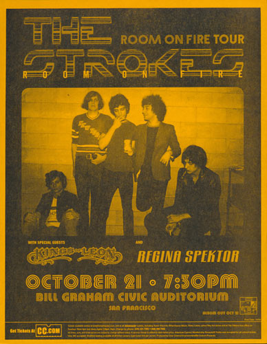 The Strokes - Room on Fire Tour Flyer