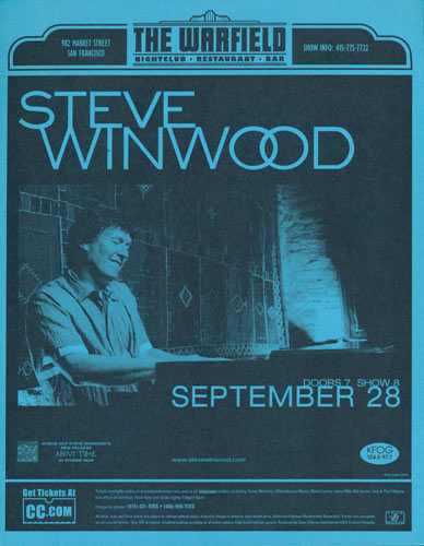 Steve Winwood Flyer