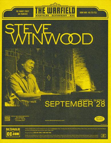 Steve Winwood Flyer