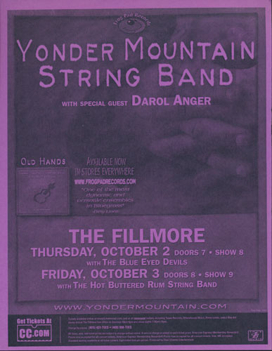 Yonder Mountain String Band Flyer
