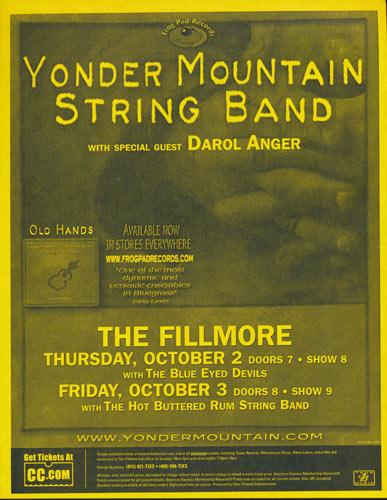 Yonder Mountain String Band Flyer
