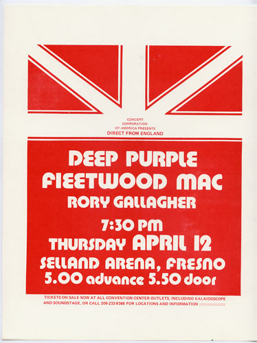 Deep Purple Handbill