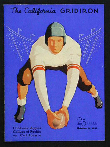 1937 Cal vs Cal Aggies College Football Program