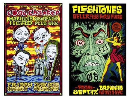 Alan Forbes Coal Chamber - Fleshtones Uncut Proof Sheet Poster