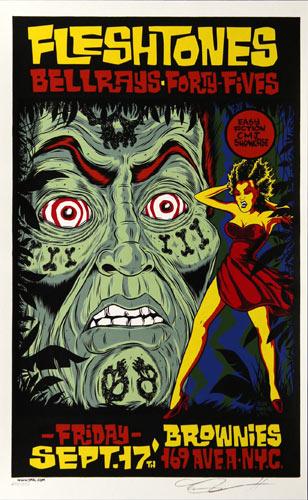 Alan Forbes Fleshtones Poster Poster