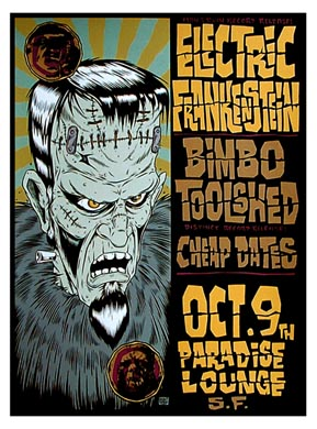 Alan Forbes Electric Frankenstein Poster Poster