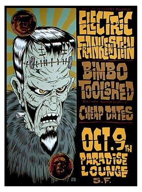 Alan Forbes Electric Frankenstein Poster Poster
