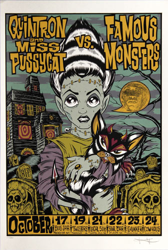 Alan Forbes Quintron and Miss Pussycat Poster