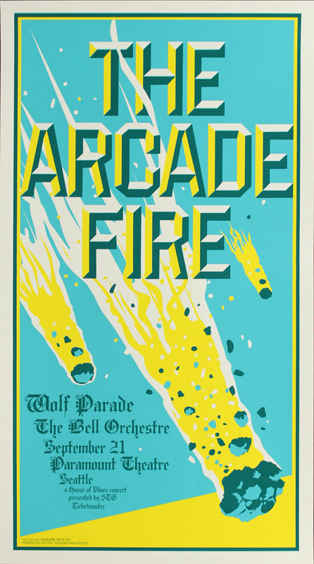 Shawn Wolfe Arcade Fire Poster