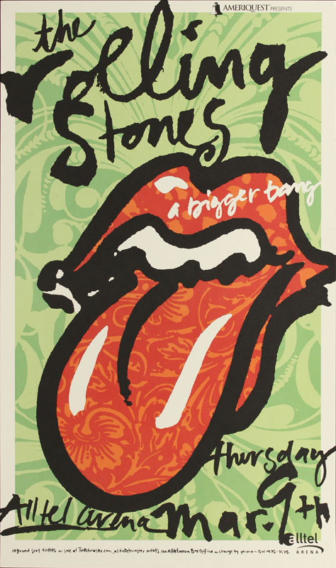 J. Burwell Mixon The Rolling Stones A Bigger Bang Tour Poster