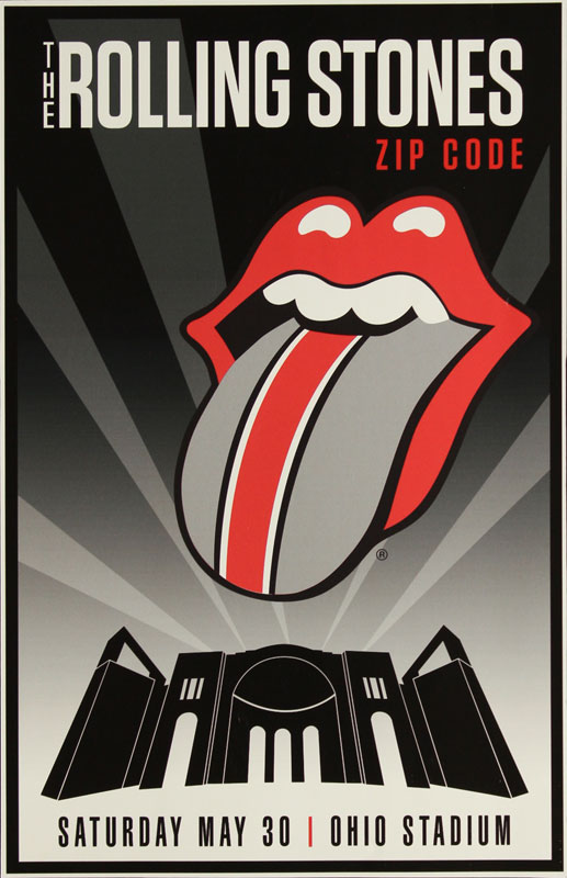 The Rolling Stones Zip Code Tour Poster