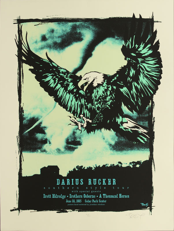 Billy Perkins Darius Rucker Southern Style Tour Poster