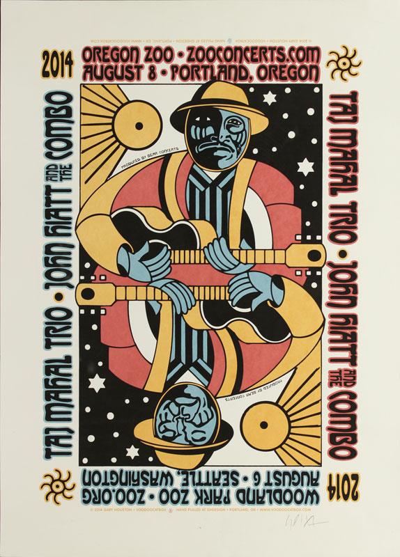 Gary Houston Taj Mahal with John Hiatt Poster