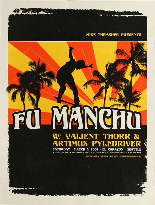 Mike Klay Fu Manchu Poster