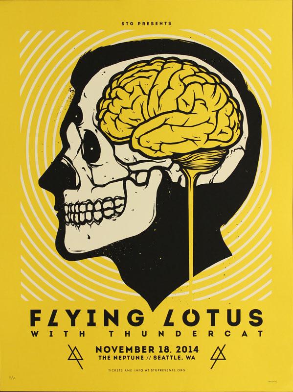 Matt Harvey STG Presents Flying Lotus Poster