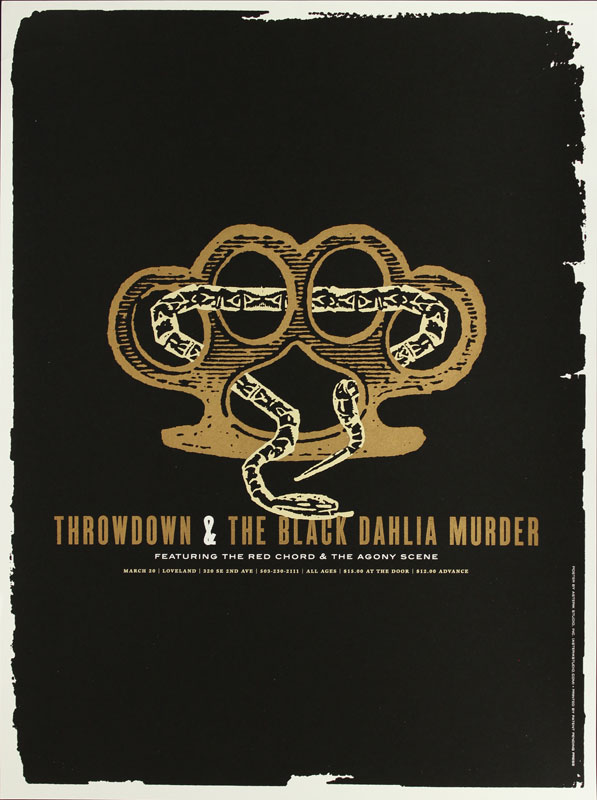 Asterik Studio Throwdown and the Black Dahlia Murder Poster