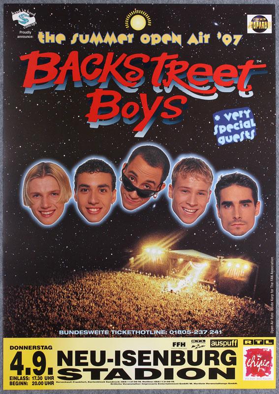 Backstreet boys german concert poster the backstreet boys neu isenburg