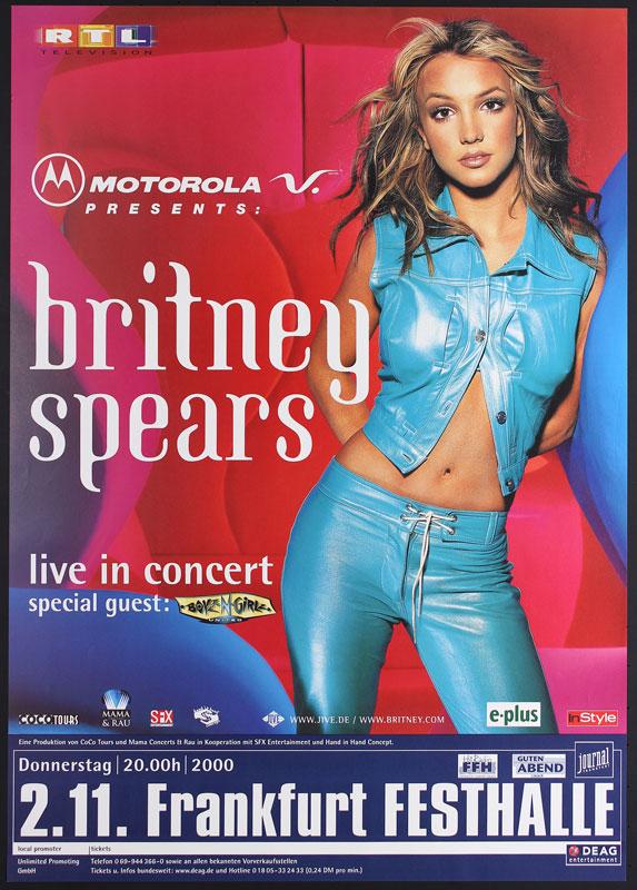Britney Spears German Concert Poster