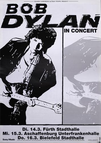 Bob Dylan German Concert Poster