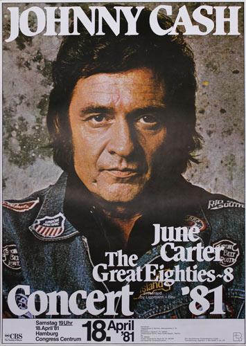 Johnny Cash June Carter German Concert Poster