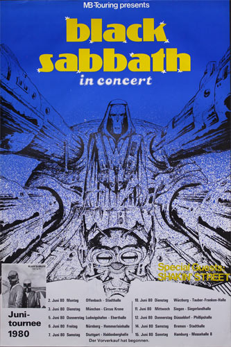 Black Sabbath 1980 German Concert Tour Poster