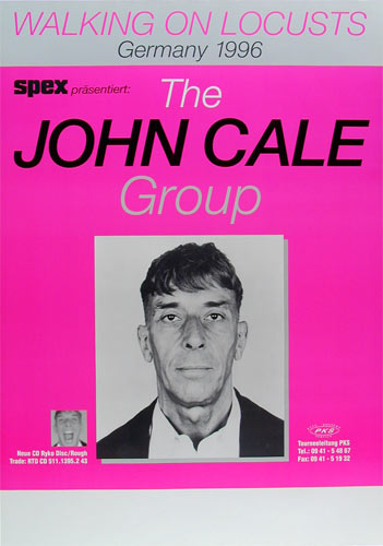 John Cale Group Walking on Locusts Album Release Promo German Concert Poster