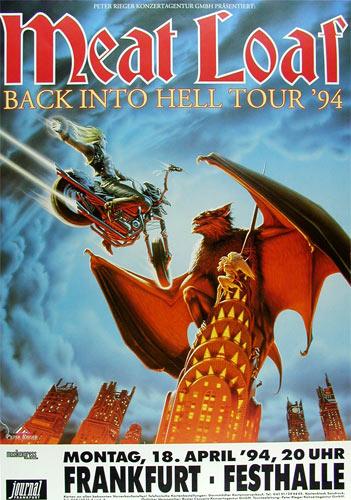 Meat Loaf Back Into Hell German Concert Poster