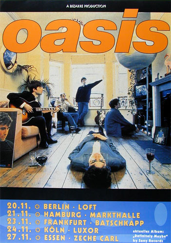 Oasis German Concert Poster