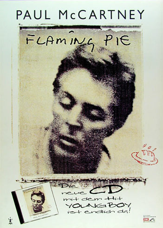 Paul McCartney Flaming Pie German Promo Poster
