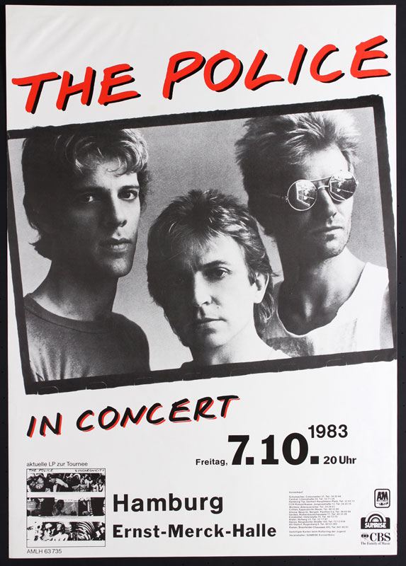 The Police German Poster