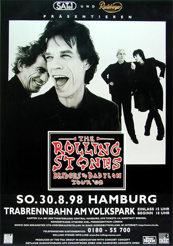 The Rolling Stones German Concert Poster