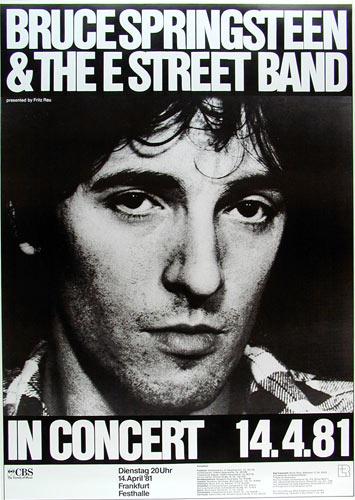 Bruce Springsteen German Concert Poster