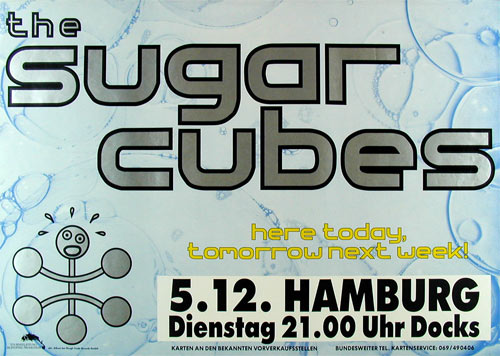 The Sugar Cubes German Concert Poster