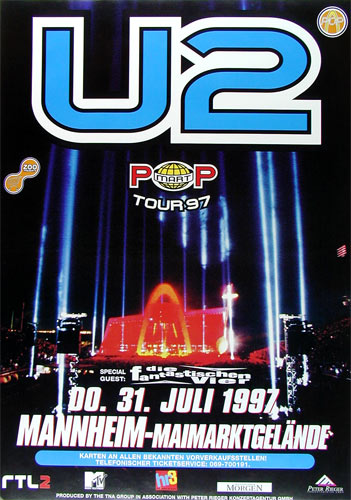 U2 Pop Tour German Concert Poster