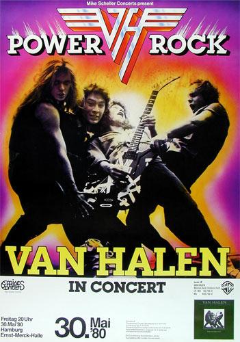 Van Halen German Concert Hamburg Poster