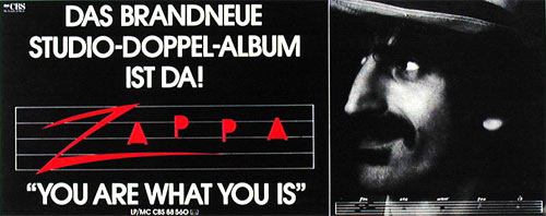 Frank Zappa You Are What You Is German Promo Poster
