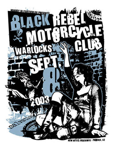 Gregg Gordon Black Rebel Motorcycle Club Poster
