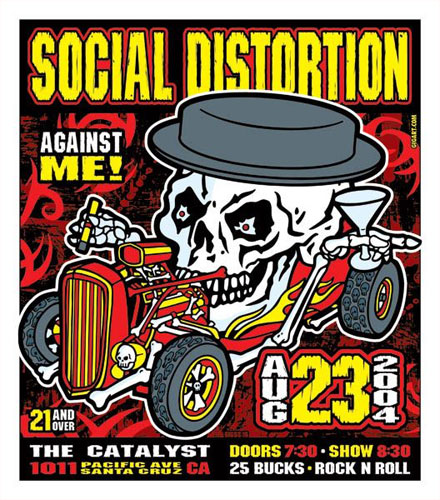 Gregg Gordon Social Distortion Poster