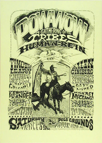 Rick Griffin Pow-Wow - A Gathering of the Tribes Human Be-In Poster