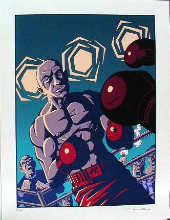 Justin Hampton Whoop-Ass ( Boxer ) Art Print