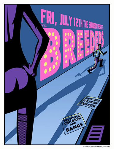 Justin Hampton The Breeders Poster