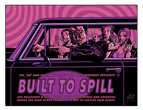 Justin Hampton Built To Spill Poster